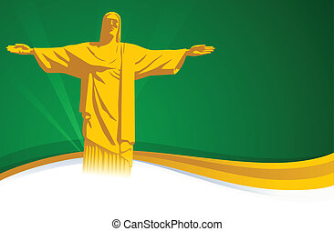 Brazil Background - Brazil background with space for text.