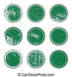 Green Grunge Stamp Set