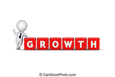 Growth concept.Isolated on white background 3d rendered...
