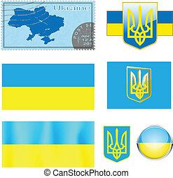 Map of Ukraine - vector illustration Map of Ukraine