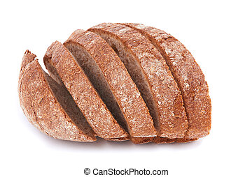bread - sliced bread isolated on a white background