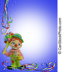 Birthday Invitation Clown child - Image and illustration...