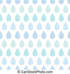 Abstract textile blue rain drops stripes seamless pattern...