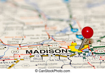 madison pin on the map