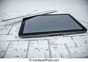 tablet and architectural construction design document tools...