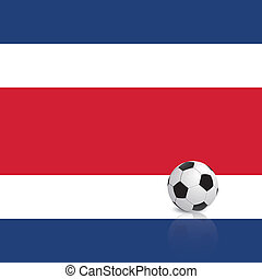 Costa Rica - Abstract Costa Rica flag with a soccer ball
