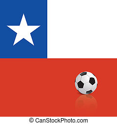 Chile - abstract Chile flag with a soccer ball