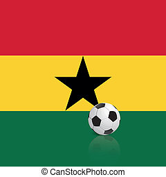 Ghana - abstract Ghana flag with a soccer ball
