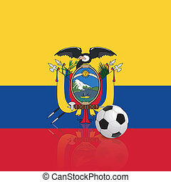 Ecuador - abstract Ecuador flag with a soccer ball