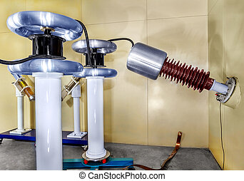 Fragment inside a modern plant producing power electric...