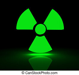 radioactive symbol - Glowing symbol for radioactive...