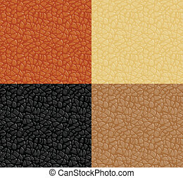 Leather texture, vector seamless pattern