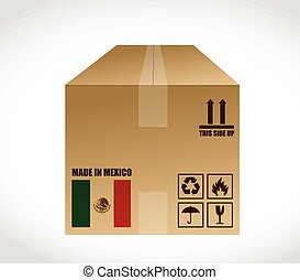 made in Mexico shipping box