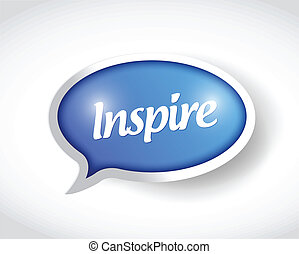 inspire speech bubble message illustration design over a...