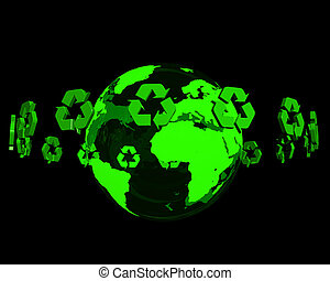 Recycling on earth glow
