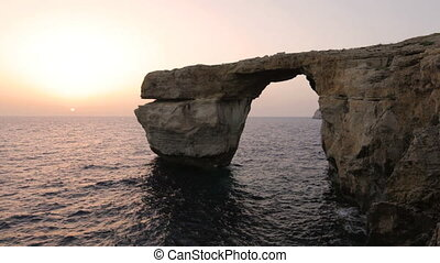 The Azure Window, Malta - The Azure Window on the coast of...