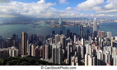 Hong Kong Panorama - Panorama of Hong Kong as Seen from...