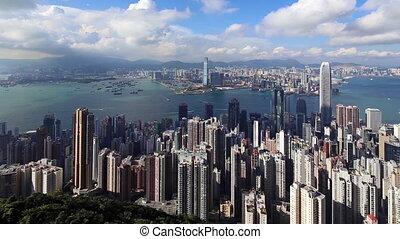 Hong Kong Panorama - Panorama of Hong Kong as Seen from...