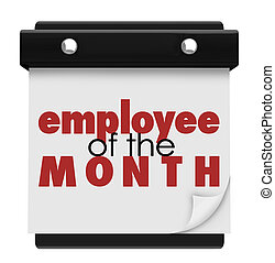 Employee of the Month Calendar Top Performing Worker Award -...