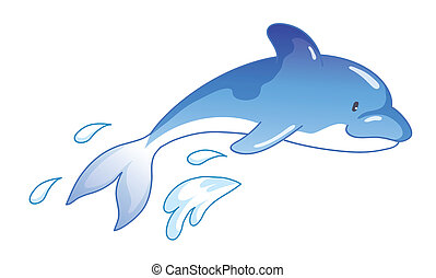 Dolphins jumping out of water clipart - photo#28