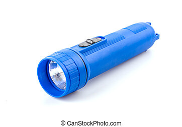 Flashlight isolated white background