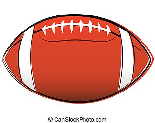 American football drawing - Vector illustration of american...