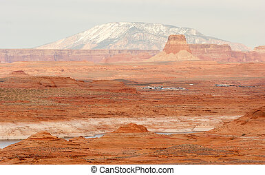 Lake Powell Smokey Mountain Utah Arizona Border Red Rock...