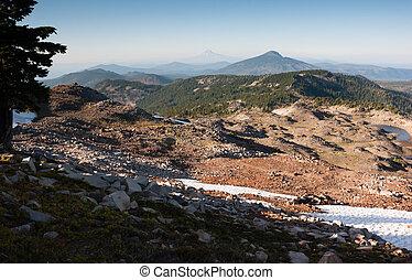 PCT Pacific Crest Trail Park Butte Skyline Cascade Range -...