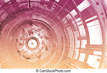 Science Fiction Futuristic Abstract As a Art