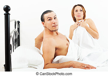 Terrified couple caught during sex - Terrified couple caught...