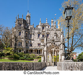 Quinta da Regaleira in Sintra, Portugal. In the palace and...