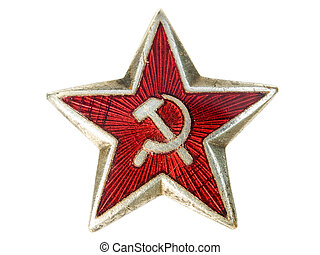 Communist star - Old communist star with sickle and hammer...