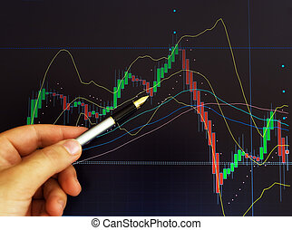 Stock market - Conceptual image about stock exchange market...