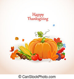 Happy Thanksgiving Day celebration flyer, for you design -...