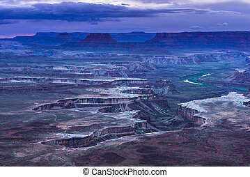 Green River Overlook at Sunset - Canyonlands National Park