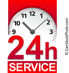 Service sign - simplified symbol for standby service around...