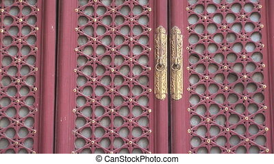 Ornate Chinese Doors - Intricate designed doors in the Lama...