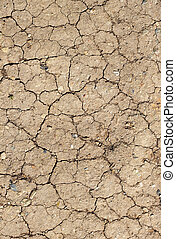 Cracked mud abstract background.