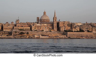 Valletta, Malta - Valletta Skyline in Warm, Late Afternoon...