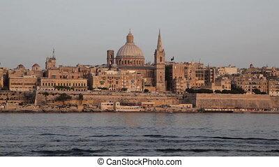 Valletta, Malta - Valletta Skyline in Warm, Late Afternoon...