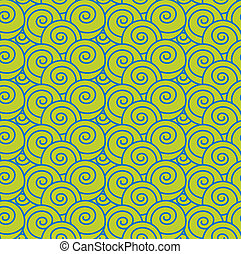 Japanese Wave Seamless Pattern