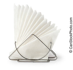 Table napkin holder with napkins - A table napkin holder...