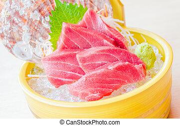 Atún, sashimi