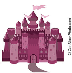Fairy Tale magic castle, vector