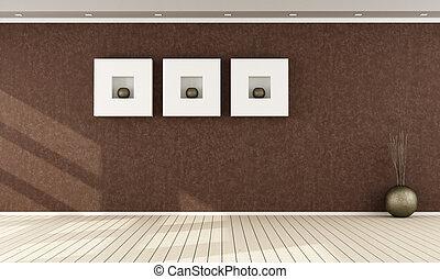Elegant brown interior