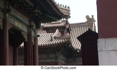 Chinese Dragon Roof - Typical temple rooftop design at the...