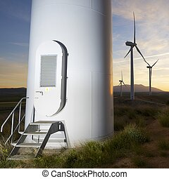 wind energy - Windmills for electric power production at...