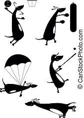 Dachshund original art silhouettes - Dachshund original art...