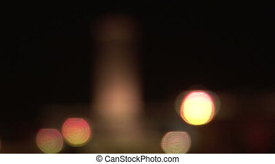 Monument to the Peoples Heroes Coming into Focus, night -...