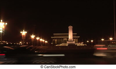 Night at Tiananmen Square - Tiananmen Square, Monument to...